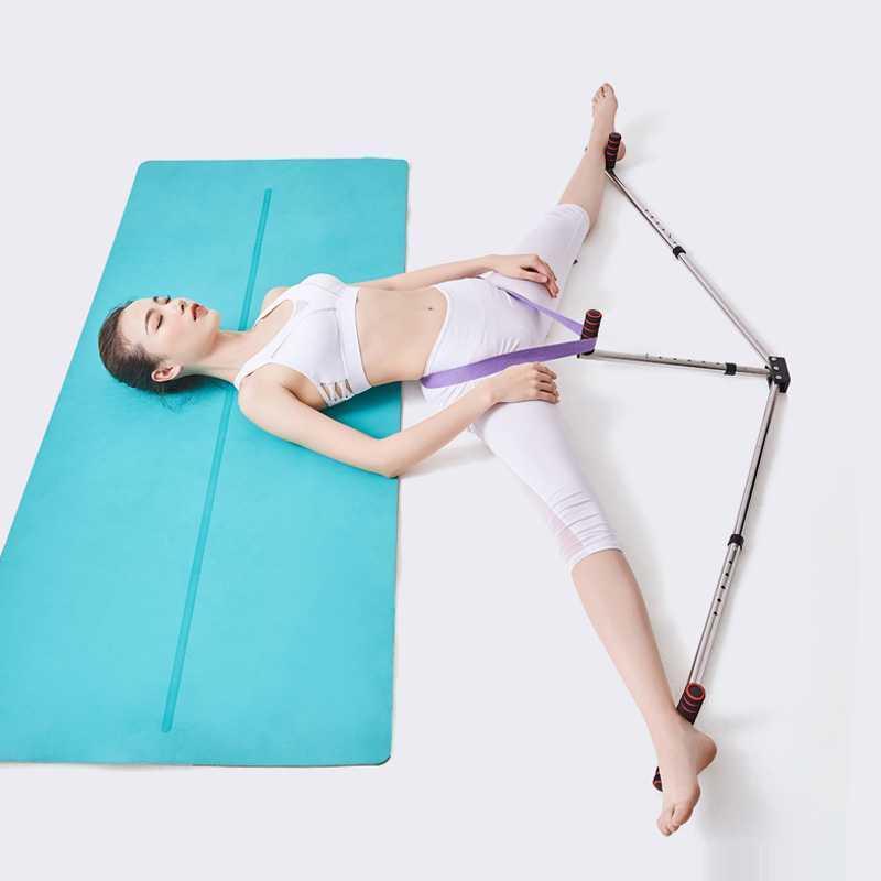 Dispositivo di yoga bande di resistenza Leg Barella Split estensione in acciaio inox legamento Esercizio Balletto Fitness Attrezzi