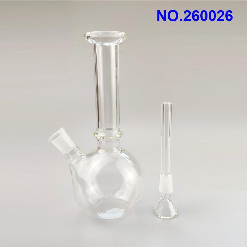 Tubi di vetro acqua Bong Bong Vetro dell'acqua nel gorgogliatore tubi di acqua Bong con ciotole di vetro per il trasporto zz libera