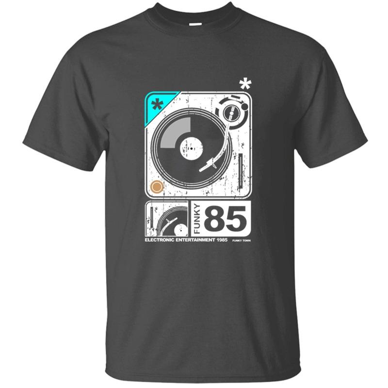 Camisetas sujo cabido plataforma giratória Funky do t-shirt para homens Humorous Outfit Roupa cómico dos homens de manga curta Top T