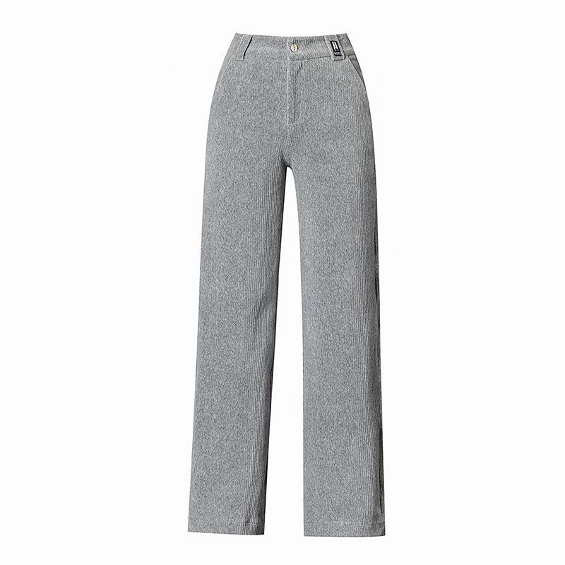 % 70 Pamuk Geniş Bacak Pantolon Katı Tam Boy Sonbahar Kış Pantolon Kadınlar Ropa De Invierno Para Mujer 2020 Düz Yüksek Bel