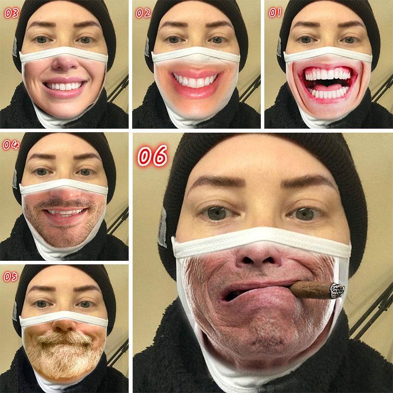 Dropshipping Maschera Le novità non Mainstream puro cotone antipolvere Bocca Cover Male Female creativi maschere espressione di personalità M3702