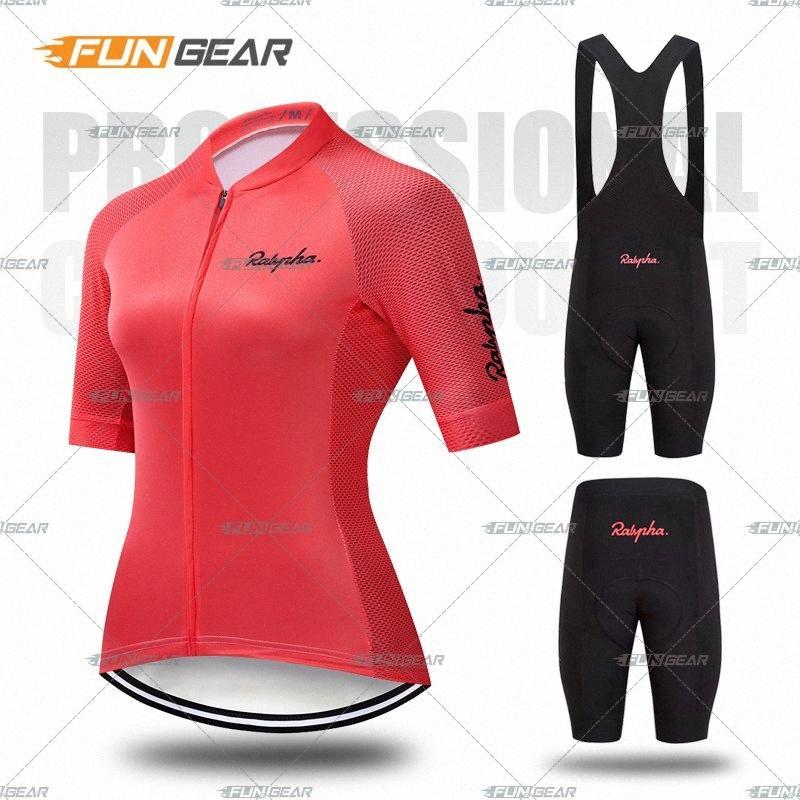Pro Женщины Велоспорт Набор MTB велосипед Одежда женская Одежда велосипед Ropa Ciclismo с коротким рукавом дорожный велосипед Джерси Биб шорты брюки Pad J5VI #