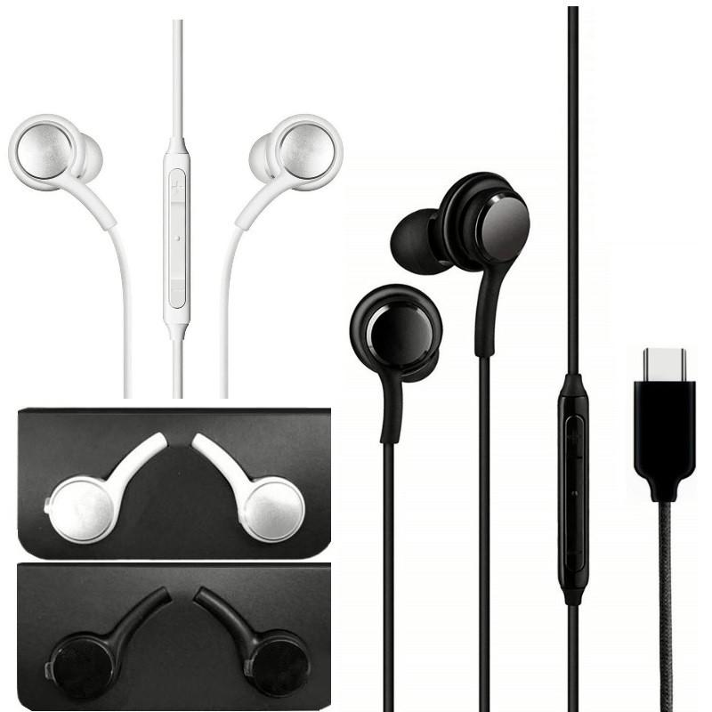 Not 10 için C kulaklık 10 Kablolu MIC Ses Kontrolü Kulaklık Kulaklık Kulaklık Samsung Galaxy Not 10 A60 S8 S10 Android Telefon