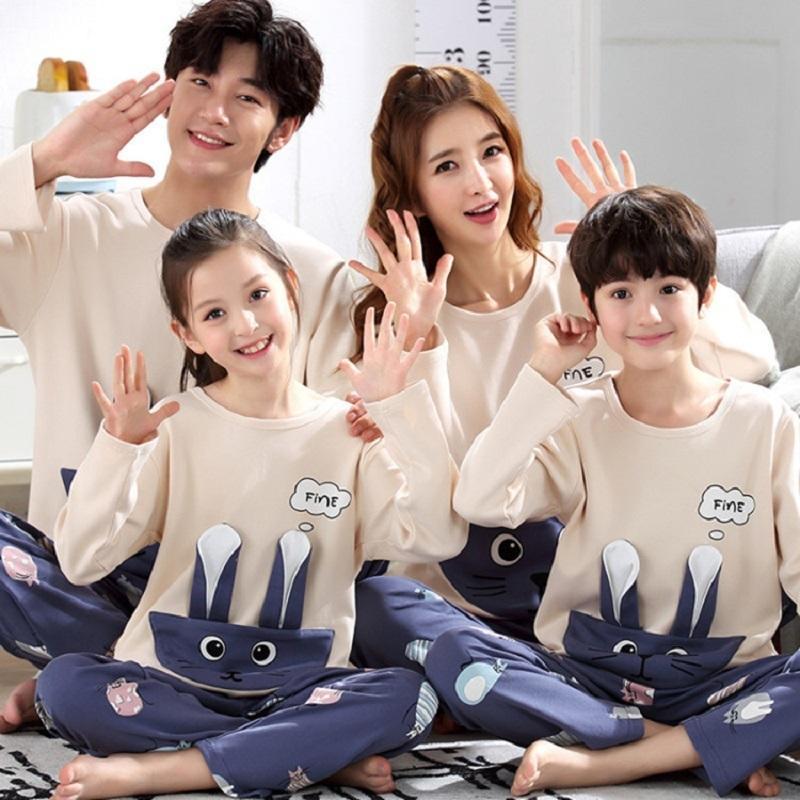 Veli Çocuk Çocuk Kıyafetler Aile Eşleştirme baba Annem ve Ben Bebek Pijama Kazak anne ve kızı Giyim Madre E Hija Y200713 ayarlar