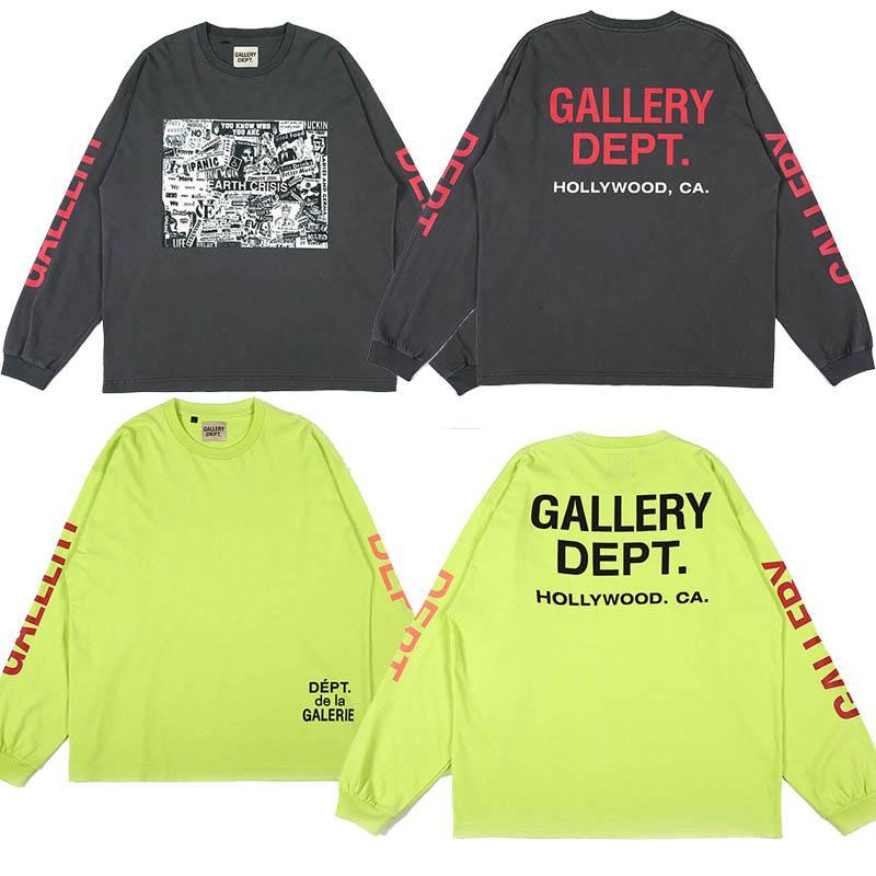 Estilo da luva Outono Longo T-shirt das mulheres dos homens de alta qualidade do algodão Oversize Streetwear Hip Hop Camisetas