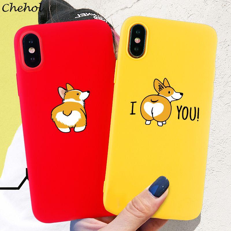 Corgi Phone for iPhone SE 11 Pro 6s 7 8 Plus X XS MAX XR Case Funny Cute Dog Soft Silicone TPU Box Back Cover Accessories