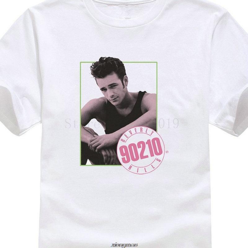 Arbeit Shirts O-Ansatz beiläufige kurze Hülsen-Männer Beverly Hills 90210 Tv Show Dylan Mckay Luke Perry Bild T Shirts dünnes kühles