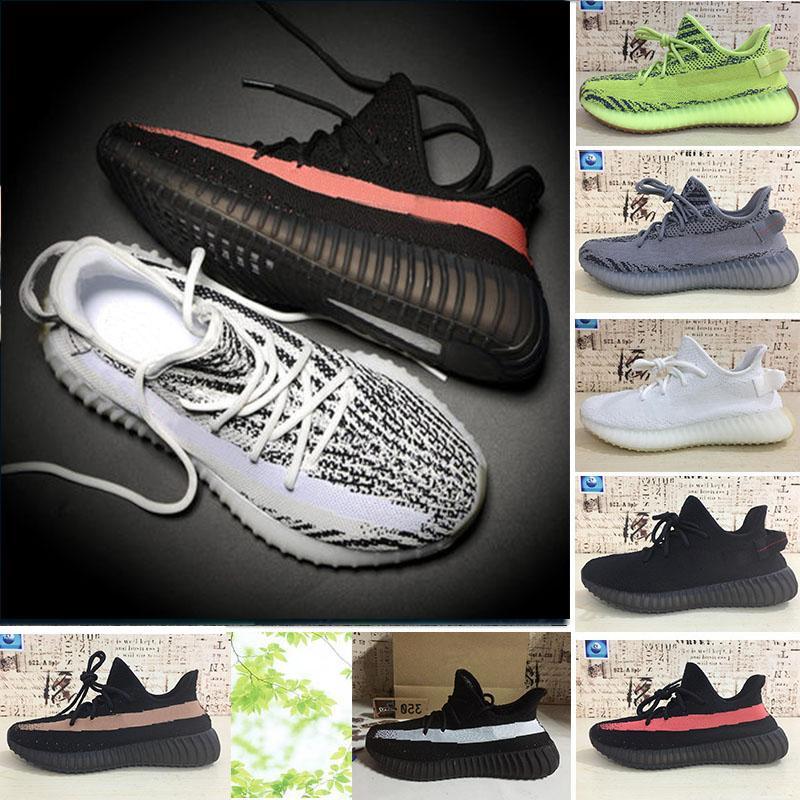 02 2.018 homens e mulheres Running Shoes V2 Beluga 2,0 Creme Branco estática Butter Sesame matiz azul Sneakers Sports Shoes Tamanho US5-13