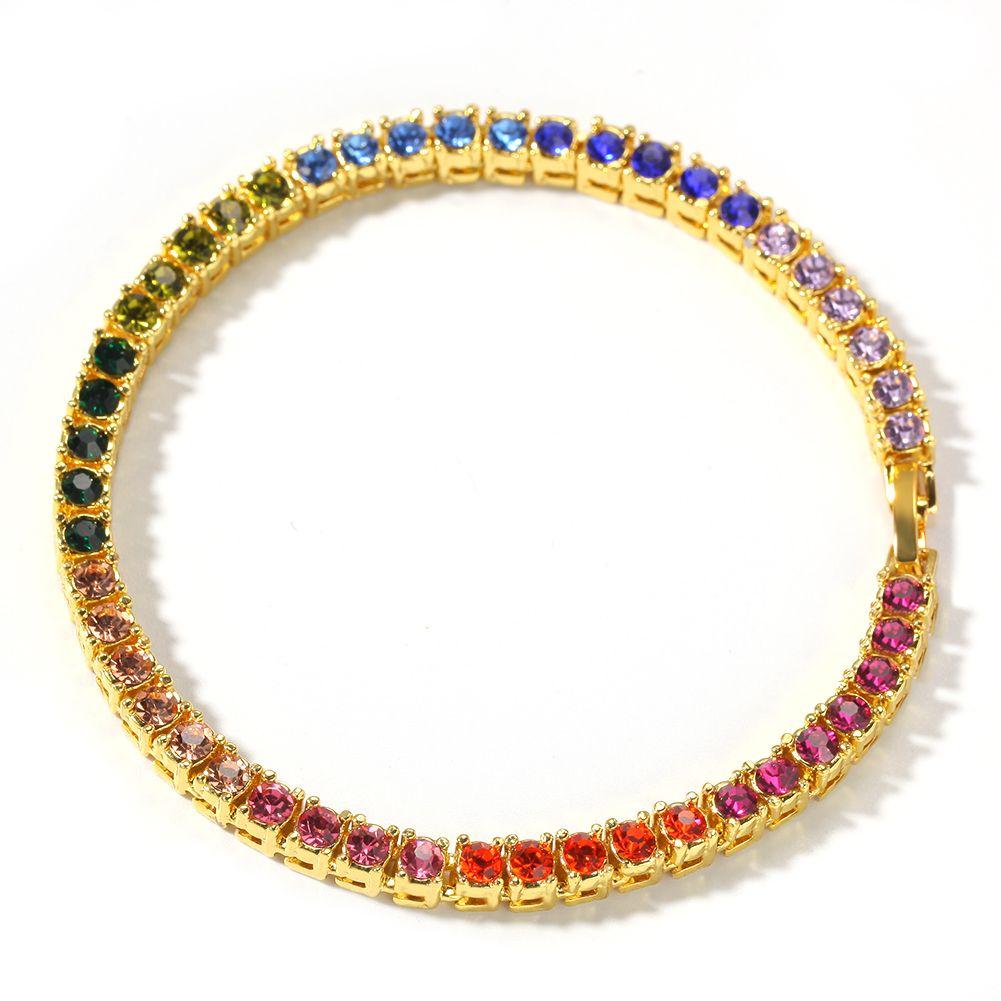 Новые пара браслеты, горячие браслеты продаж, хип-хоп аксессуары личности 4 мм сплав алмазы ряд Браслет мужской моды