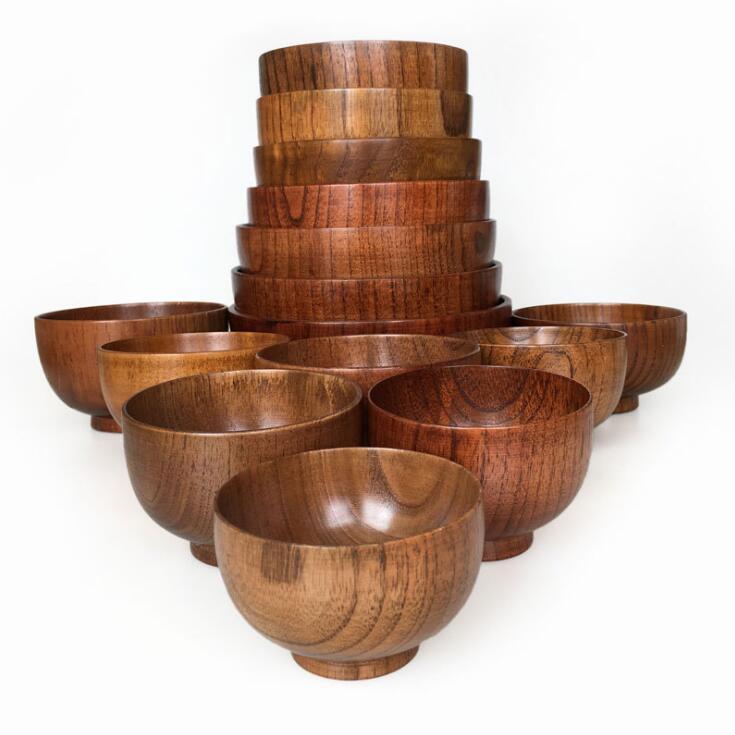 나무 그릇 Tapanese 수프 쌀 국수 그릇 키즈 런치 박스 주방 식기를 들어 아기가 음식 컨테이너 사용자 정의 DHC853 할 수 있습니다 먹이