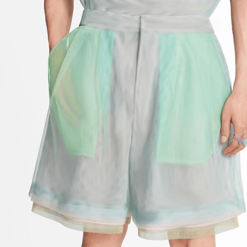 20SS Multi-camada colorida Gauze malha Shorts de Verão em camadas coloridas Gauze férias Praia Board Calças Curtas respirável New Style HFHLKZ055