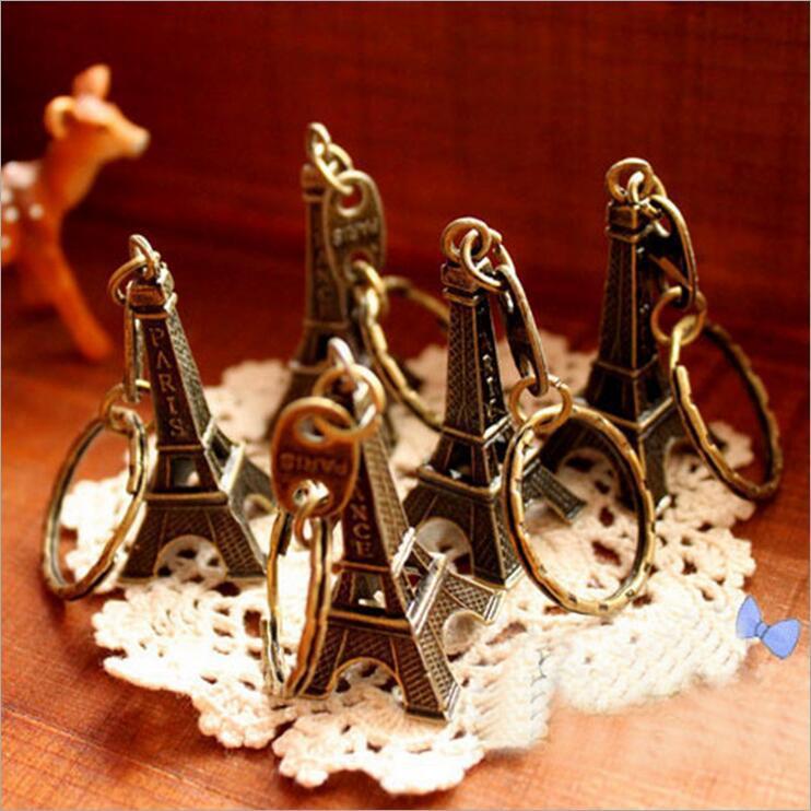 زوجين المفاتيح عشاق المفتاح الدائري الإعلان هدية سلسلة المفاتيح سبيكة الرجعية برج ايفل مفتاح سلسلة برج الفرنسية فرنسا تذكارية باريس مصمم