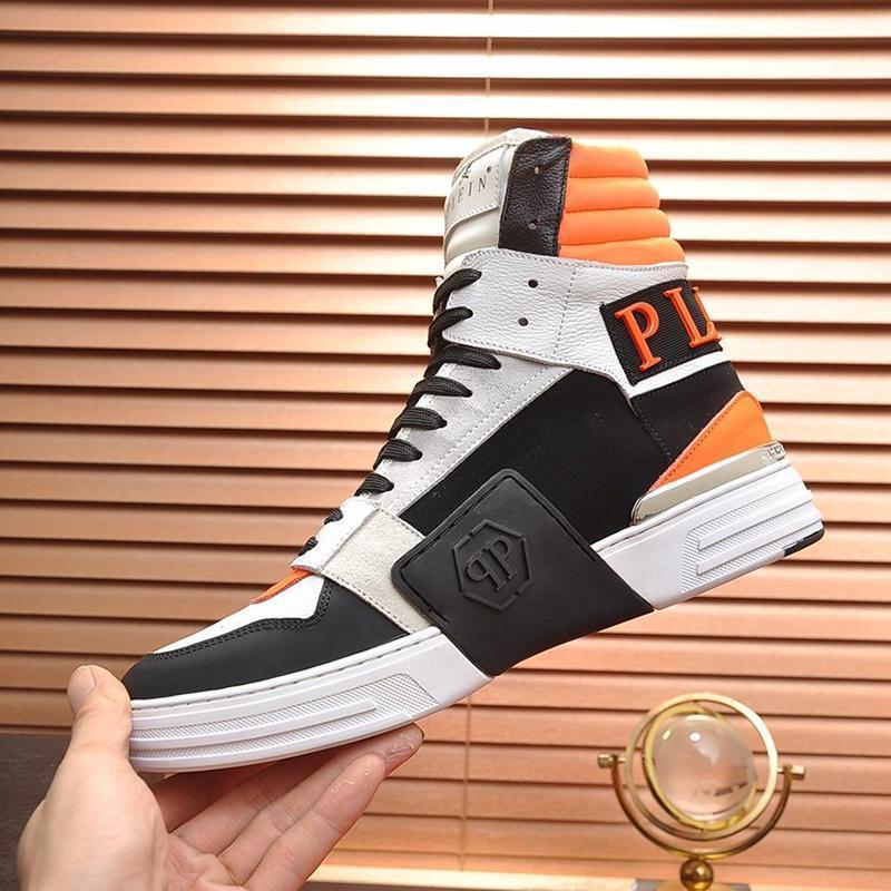 Üst Kalite Phantom Kick $ Merhaba -Top Karışık Malzeme Sneakers Erkek Ayakkabı Açık Yürüyüş Moda Ayakkabılar Yüksek Top Dantel -Up Stil Spor Erkek Bot