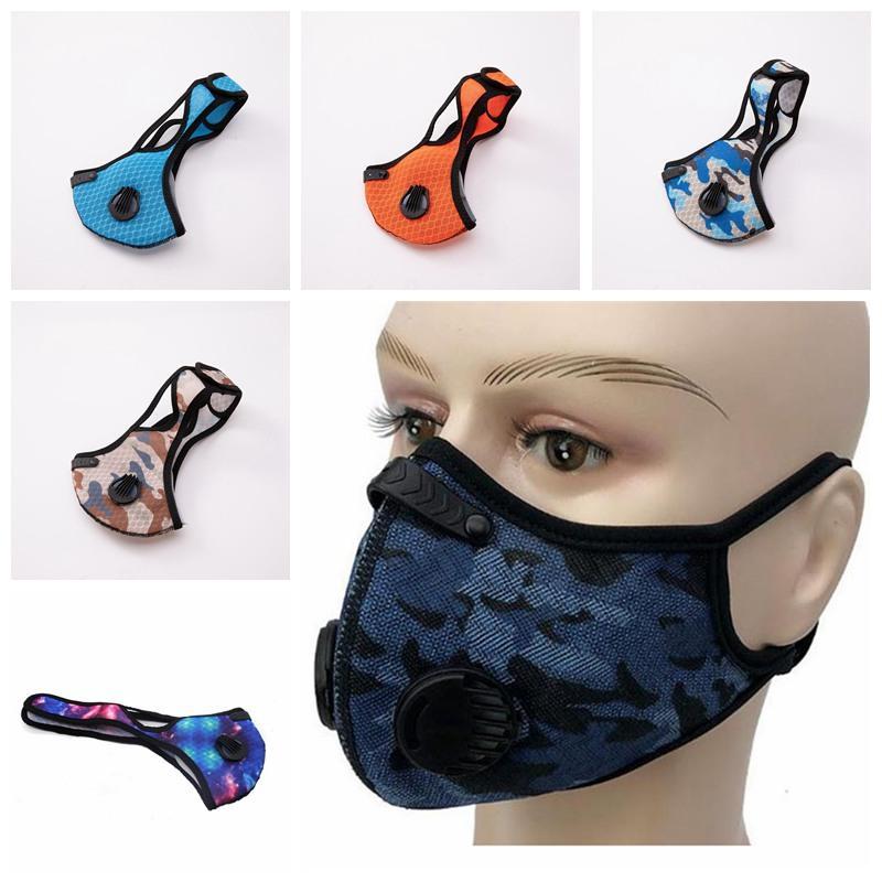 Radfahren Maske Staubdichtes Haze-Beweis atmungsaktiv Fashion Camouflage Sternenhimmel Schutz Maske Männer und Frauen im Freien Sport Gesicht IIA262 Maske