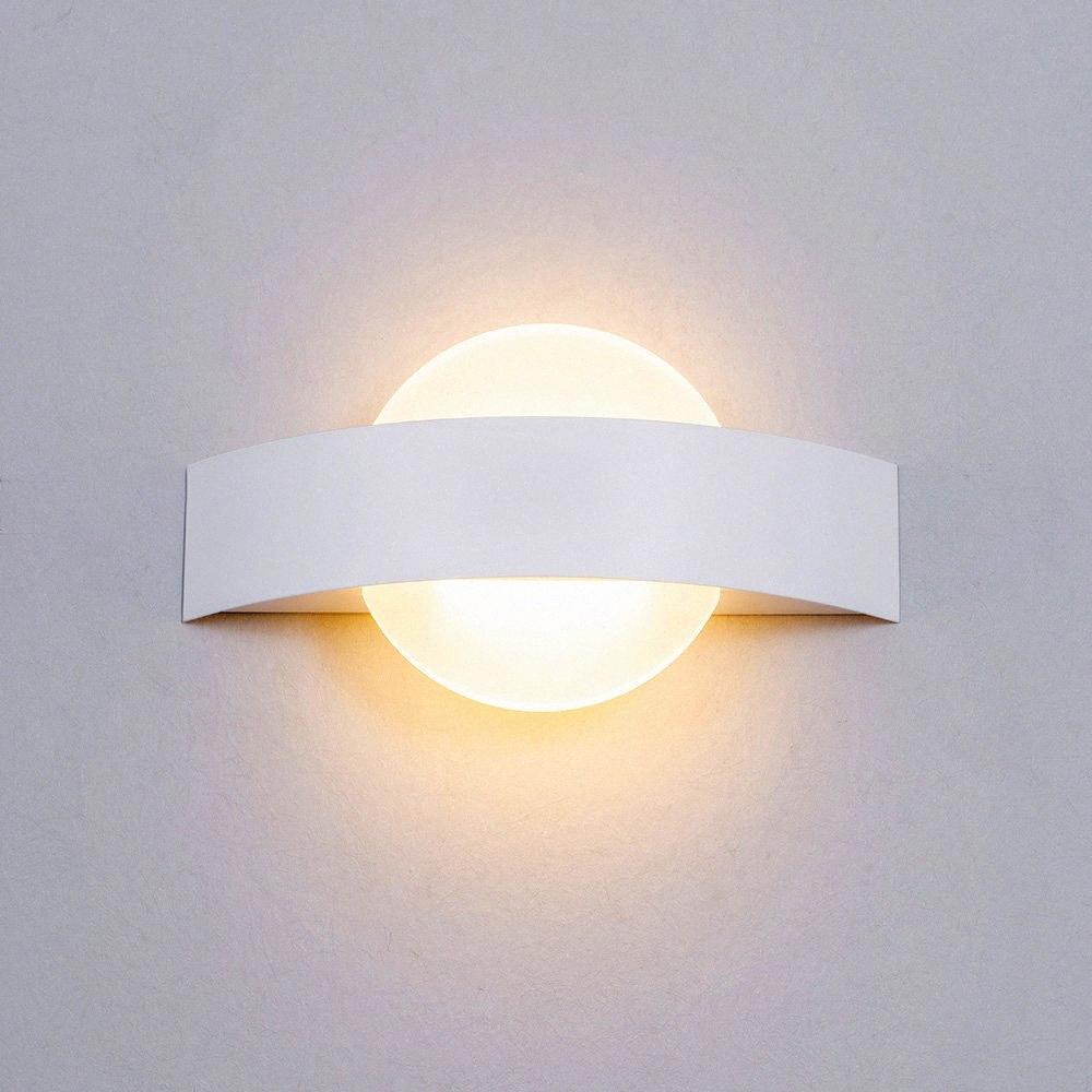 Wall Light Nordic Comodino Luna Aisle Sconce Parete Lampada LED Indoor hotel Verranda Stair bianco della lampada TdTq #