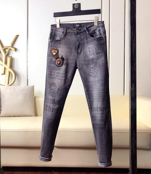 Мода Мужские рваные Байкер Джинсы Кожа Лоскутная Slim Fit черный Moto Denim бегуны для мужской Проблемные Jeans Брюки ~~ # SA128