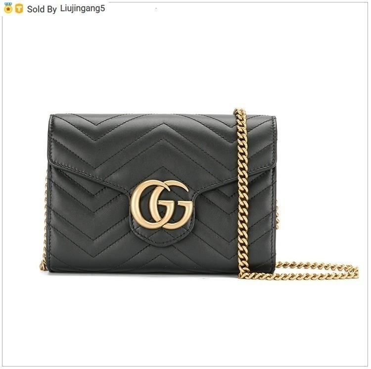 Liujingang5 cuir Mini chaîne sac noir Totes Sacs à main Sacs à bandoulière Sacs à dos Portefeuilles bourse