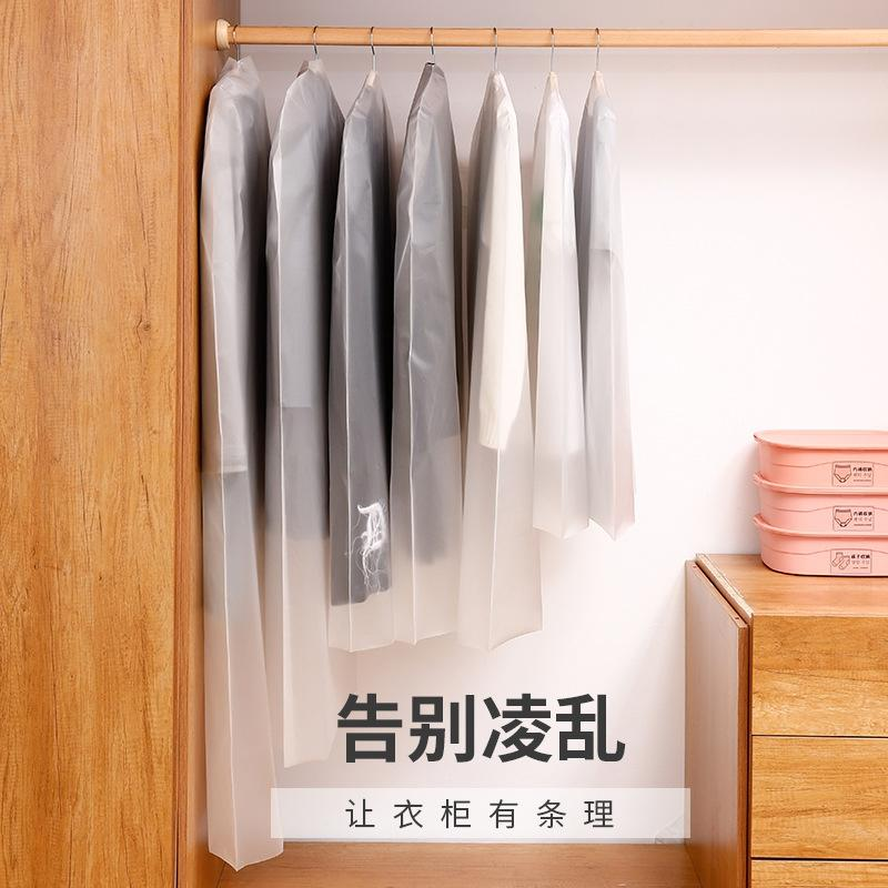 nuovi vestiti polvere trasparenti antipolvere copertura abiti appesi fondo semplice copertura del vestito aperto e Z pratica