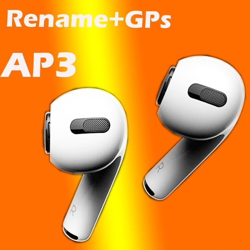 H1 auriculares chip GPS Renombrar Aire Ap3 pro vainas ventana emergente Bluetooth Auriculares automático pelar carga inalámbrica
