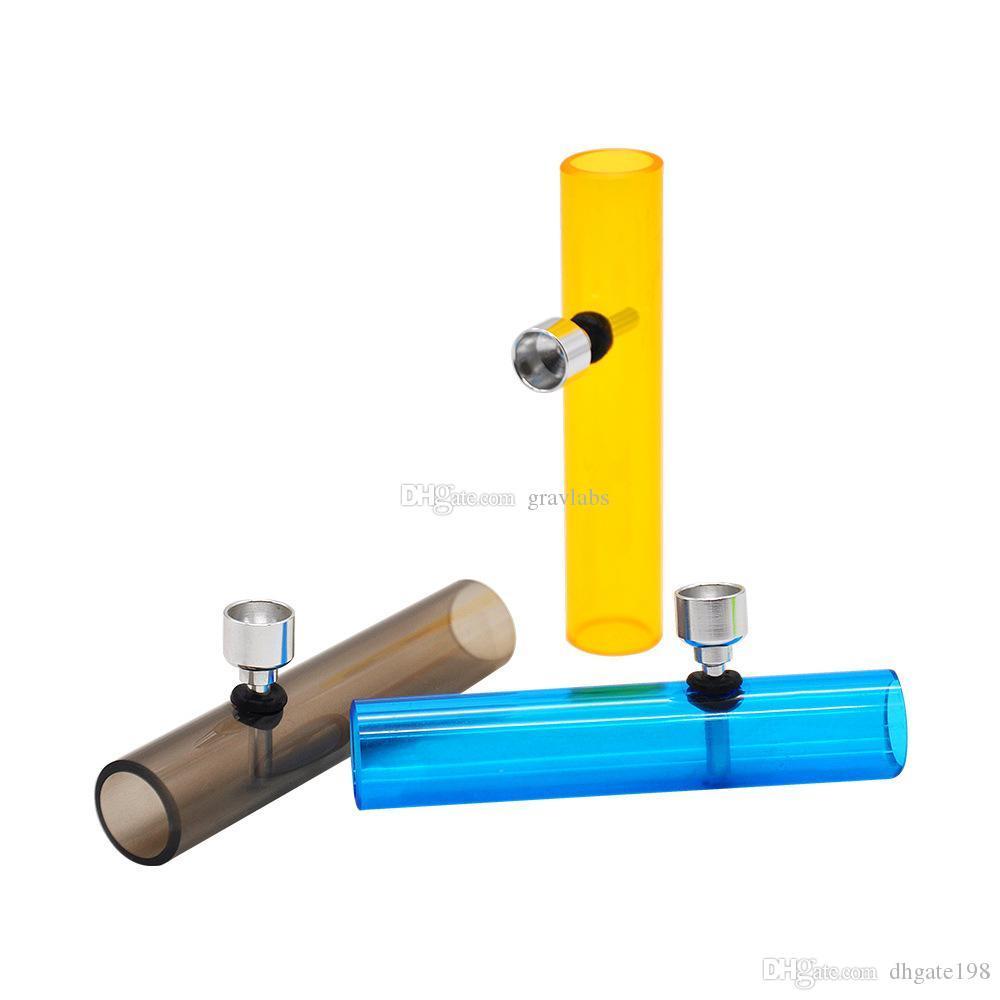 bunte preiswerte neuesten Acryl Dampfwalze Handpfeifen Protable Rauchtabak Cigarette trocken herbes Rohr freies Verschiffen