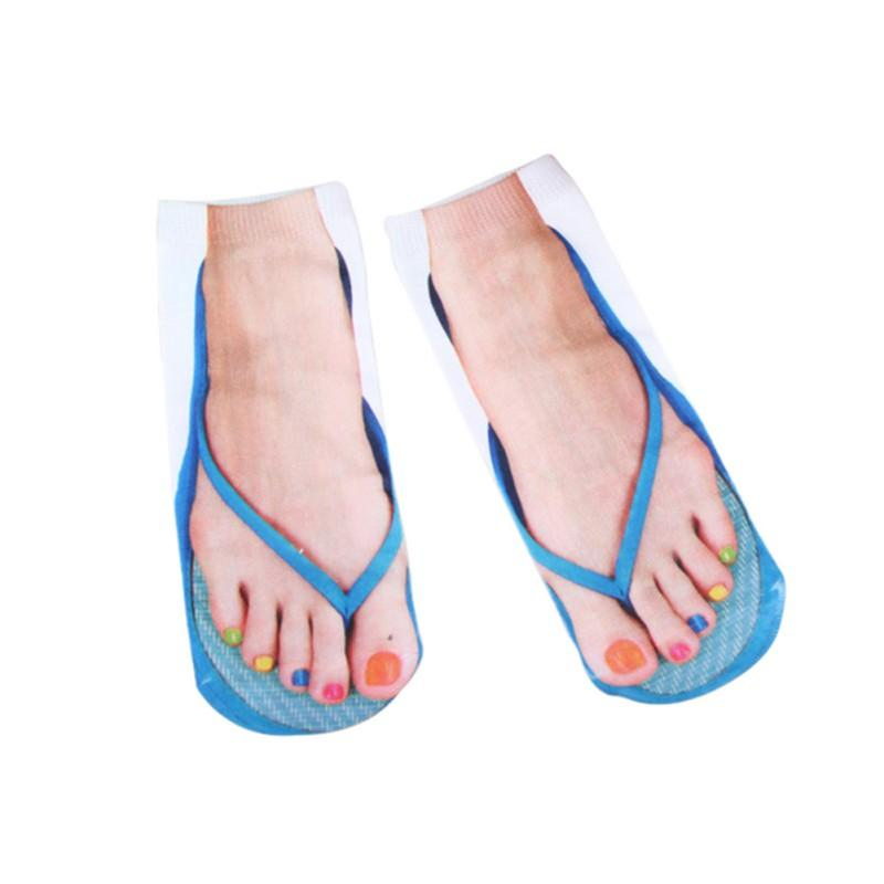 2 adet / lot Çok Renkler 3D çorap Kadınlar Çorap Charactor Flop Unisex Düşük Kesim Bilek Spor ST J V çevirin yazdır
