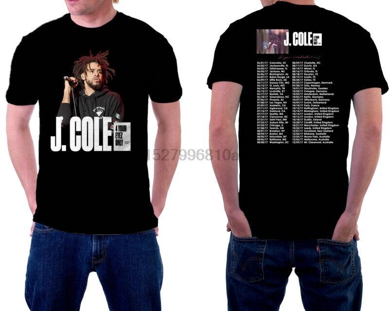 J. Cole World Tour T-Shirt Schwarz Farbe Nizza Ausgabe Short Sleeve