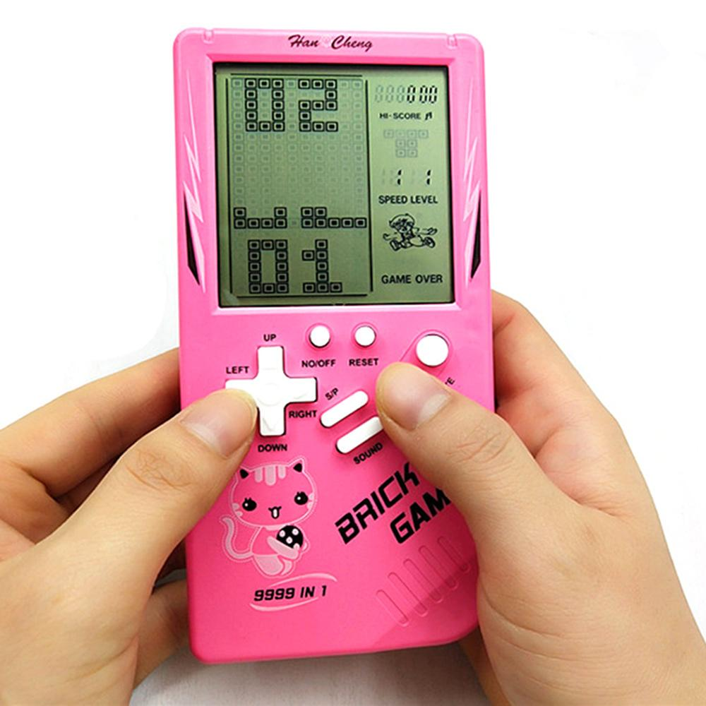 Portable Puzzle Game Console Tetris Handheld Game Players LCD Screen Electronic Game Toys Pocket Children's toy gift