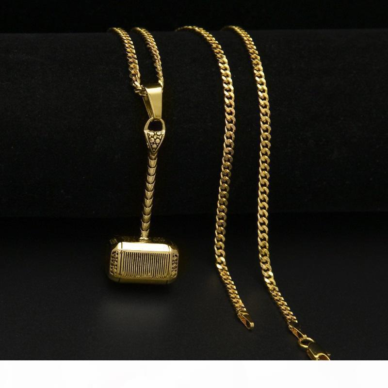 Pop Collana Martello di Thor Alta USpecial Per collana ciondolo in acciaio inossidabile delle donne degli uomini del nuovo di modo di Hip Hop della collana di gioielli