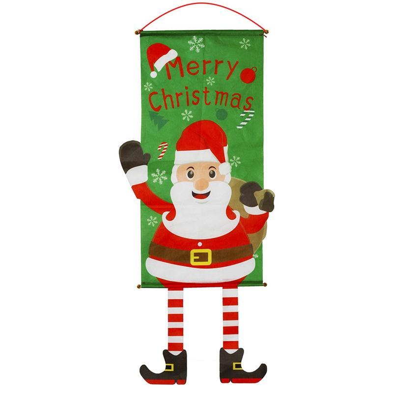 Calidad de Navidad Decoración de Navidad Año Nuevo tela piernas colgando creativos banderas colgando de la ventana colgantes de pared Ambiente Vestirse D
