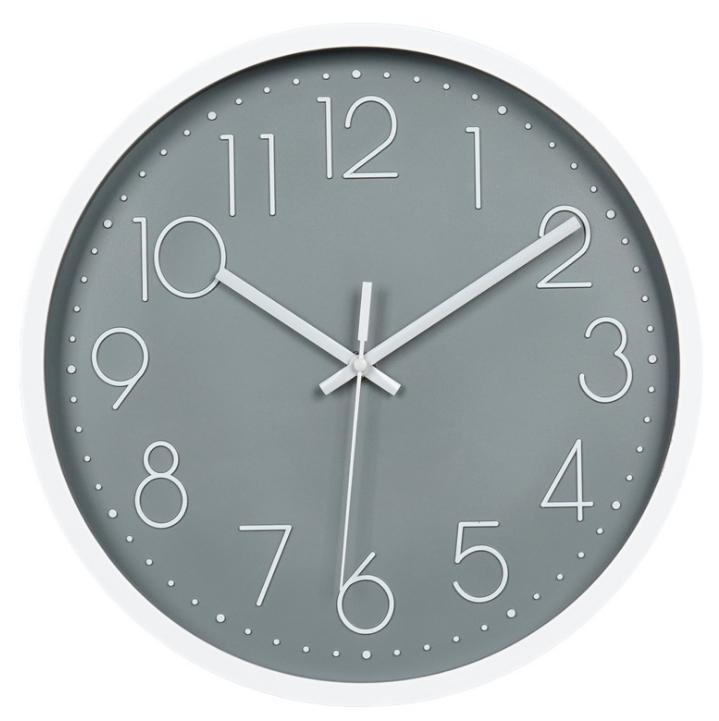 الشمال هادئة ساعة الحائط الأزياء الإبداعية غرفة المعيشة ثلاثية الأبعاد على مدار الساعة الاتصال الهاتفي الرقمي الساعات البلاستيكية الجملة 12 بوصة 30CM