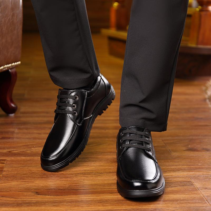 Dress Mens Shoes Genuine Leather Brown Black Shoes for Men Formal Italian Oxfords Classic Elegant Lace Up Mens Office