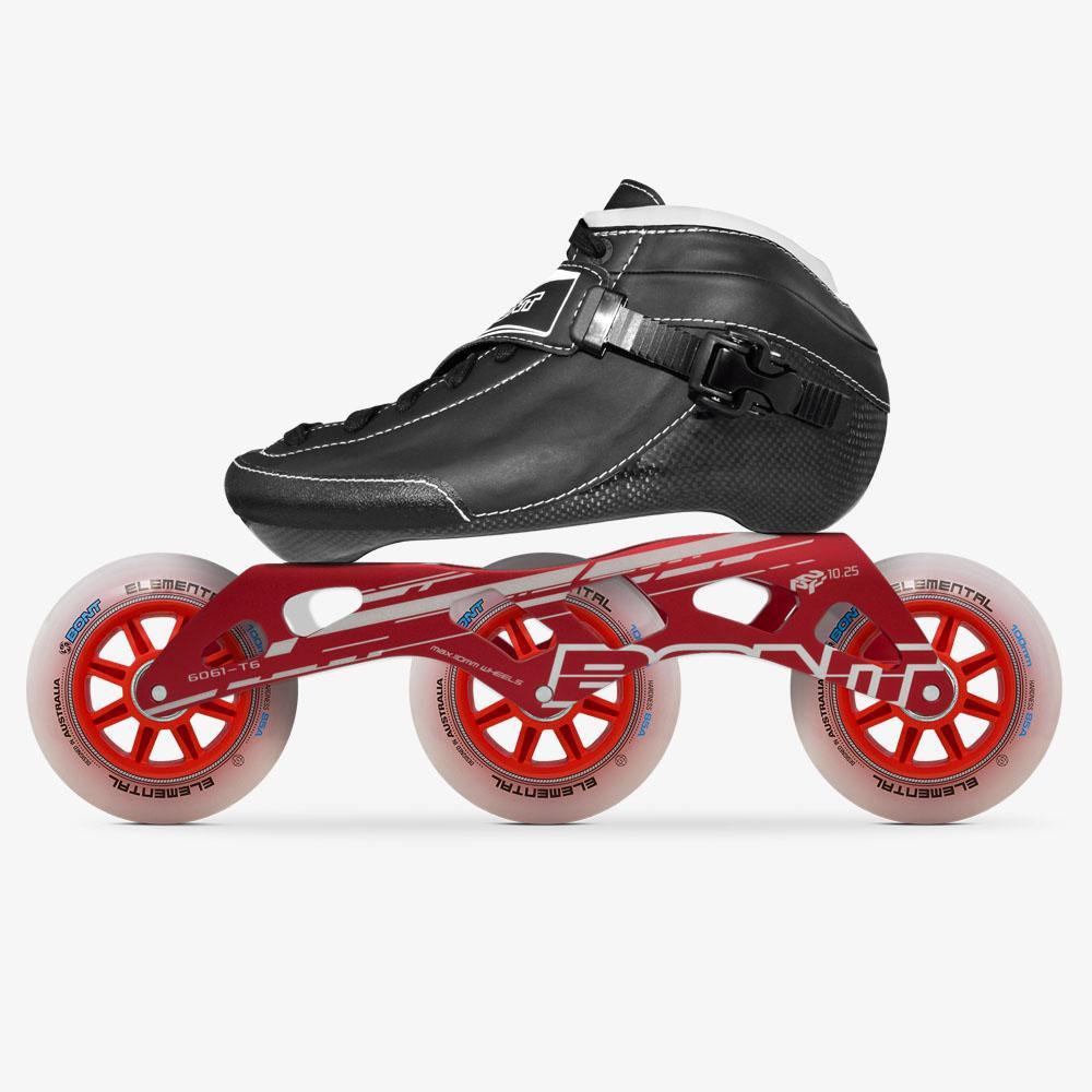 Bont Roller Skates Girls Women Suede Boot with Led Light Up Wheels Men Boys Indoor and Outdoor Roller Skates Youth