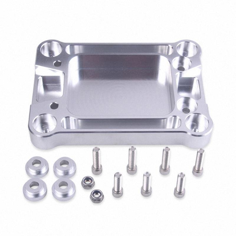 Прочный Модифицированный двигатель С Screw Silver Практические Shifter Box Тарелка Аксессуары Алюминиевый рычаг переключения передач Основание для Для iPHx #