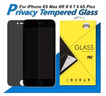 Für Iphone SE 2020 11 Pro MAX X 6 6S 5 5S Privacy Screen Protector Anti-Spy Echt Ausgeglichenes Glas für 8 7 Plus-XS XR Max mit Kleinkasten