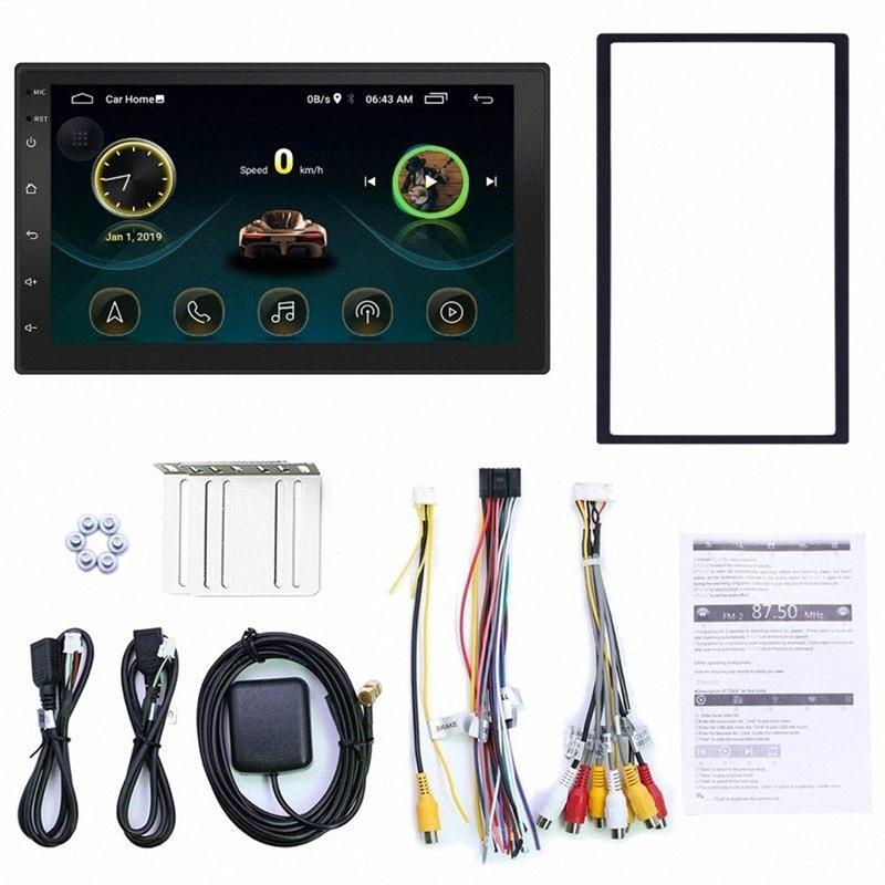 Double Din Android 8.1 Universal Car Multimedia MP5 Navigation GPS 7 pouces HD écran tactile 2 din WiFi intégré voiture stéréo voiture St LrVr #