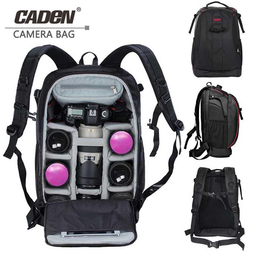 CADeN Photography bag mochila fotografia DSLR Camera Shoulder Bags backpack laptop for Canon Nikon Travel Shockproof lens Cases T191025