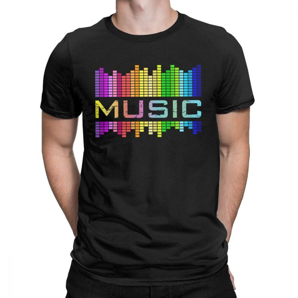Abbigliamento infiammante del compensatore del T shirt luce creativa su e giù Uomini Tee Shirt della roccia del partito della discoteca del DJ di musica T-shirt