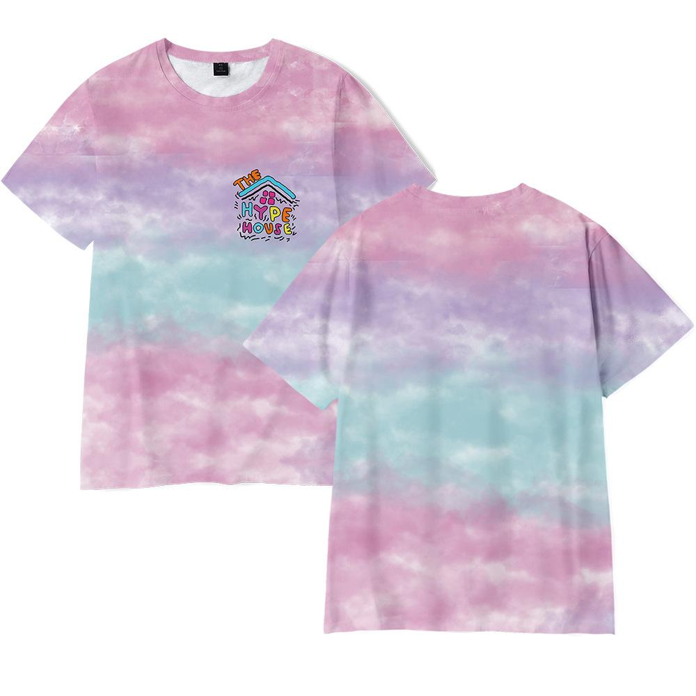Tie Dye T Shirt Il Hype House 3D Stampa Shirt T oversize Donne Uomini Charli D'Amelio divertente maglietta Addison Rae Raffreddare Graphic T-shirt