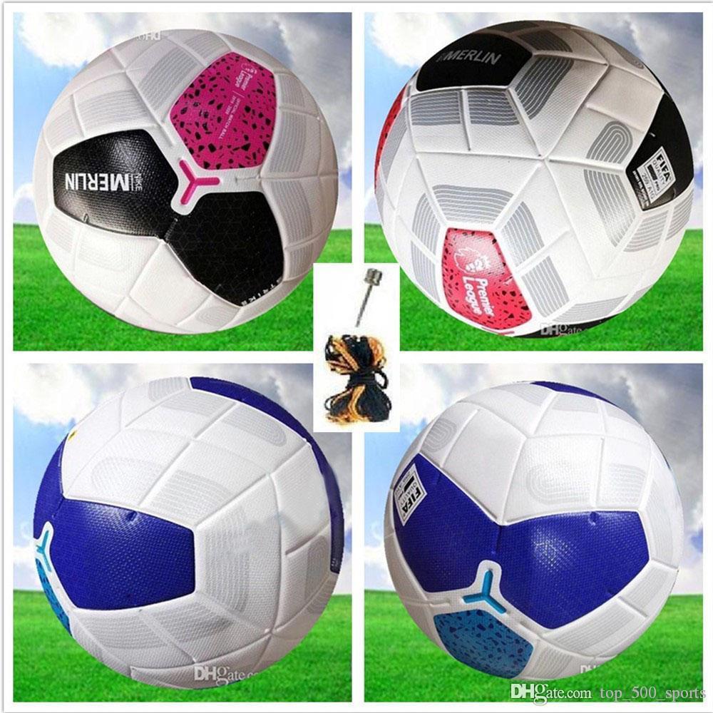 하기 Premer 19 20 축구 공 리그 클럽 리그 2019 2020 크기 5 공 축구 공 고급 좋은 매치 (공기없이 공을 배송)