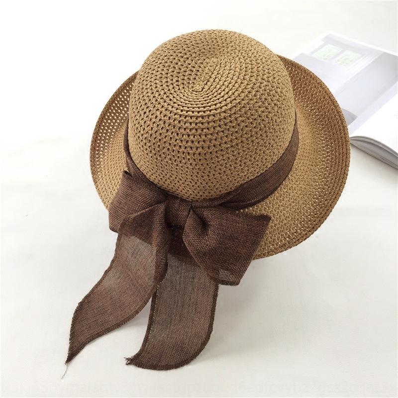 paille coréenne arc paille chapeau corniche papillon été loisirs plage enfants plage soleil tout match grand chapeau ras bord chapeau frais de vacances