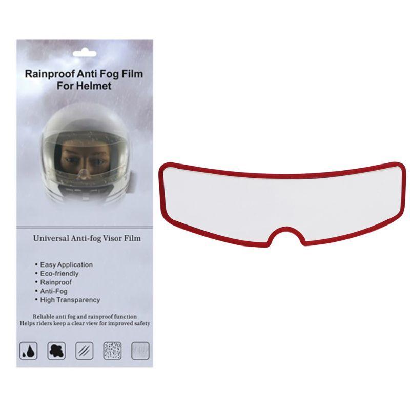 Nuevo casco universal a prueba de lluvia y niebla a prueba de lente Patch MotorcycleType Casco anti-lluvia anti-vaho de la película del coche eléctrico de medio casco