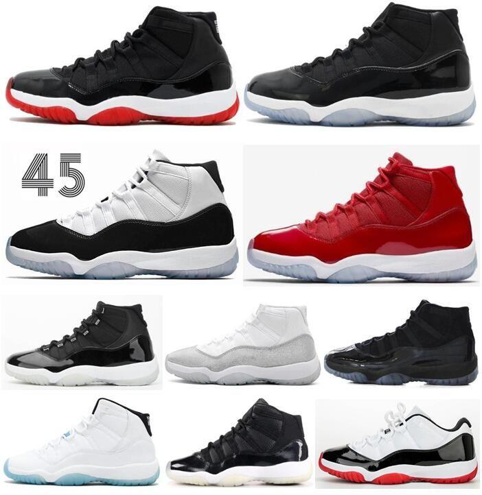 2020 الجديد 11 11S ولدت أحذية الفضاء المربى كونكورد 25 الذكرى كرة السلة للرجال 11S كاب وثوب رياضة الأحمر 72-10 حذاء مع صندوق
