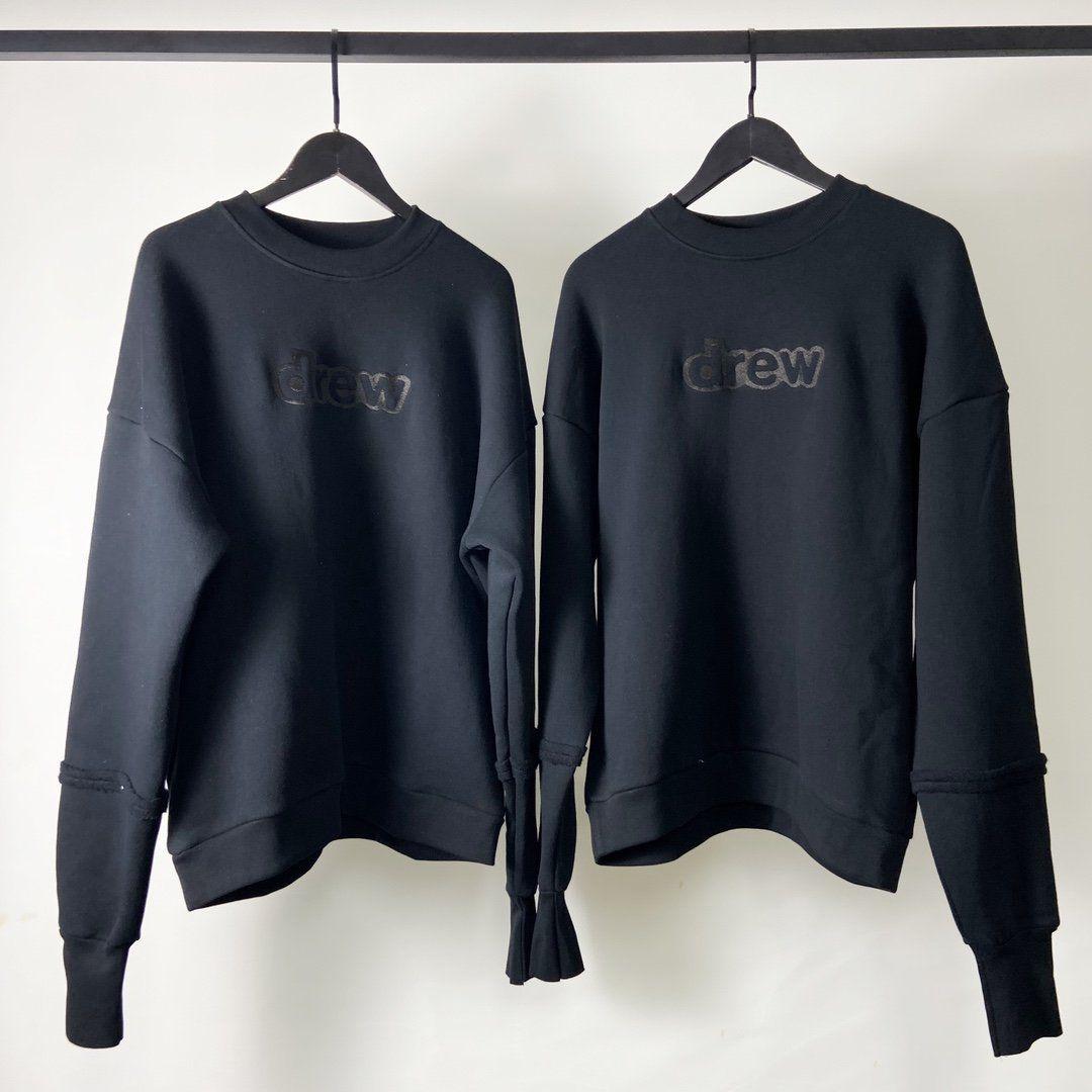 2020FWss Black Green Embroidery Crewneck Men Women Couples Cotton Oversized HipHop Sweatshirts Men Hoodie