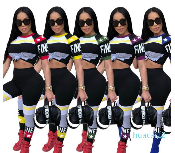 Women's Tracksuits Two piece women suit Long sleeve crop top and shorts set Color block women 2 piece pants sets cotton Women's Clothing
