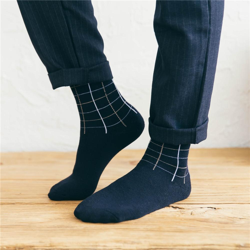 Autumn Warm stockings and Winter cotton men's mid-calf towel Terry plus velvet stockings thickened warm socks business men's socks