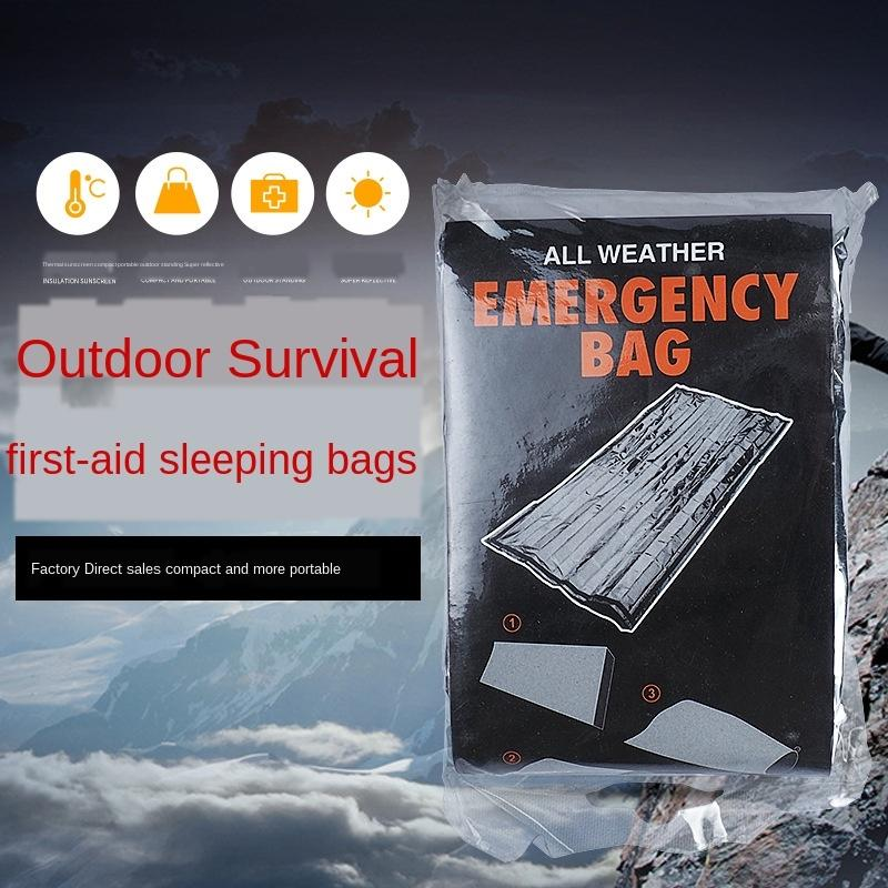x3vAY Low price PET aluminum foil life blanket gold Warm sleeping bag and silver two-color thermal blanket outdoor survival emergency sleepi