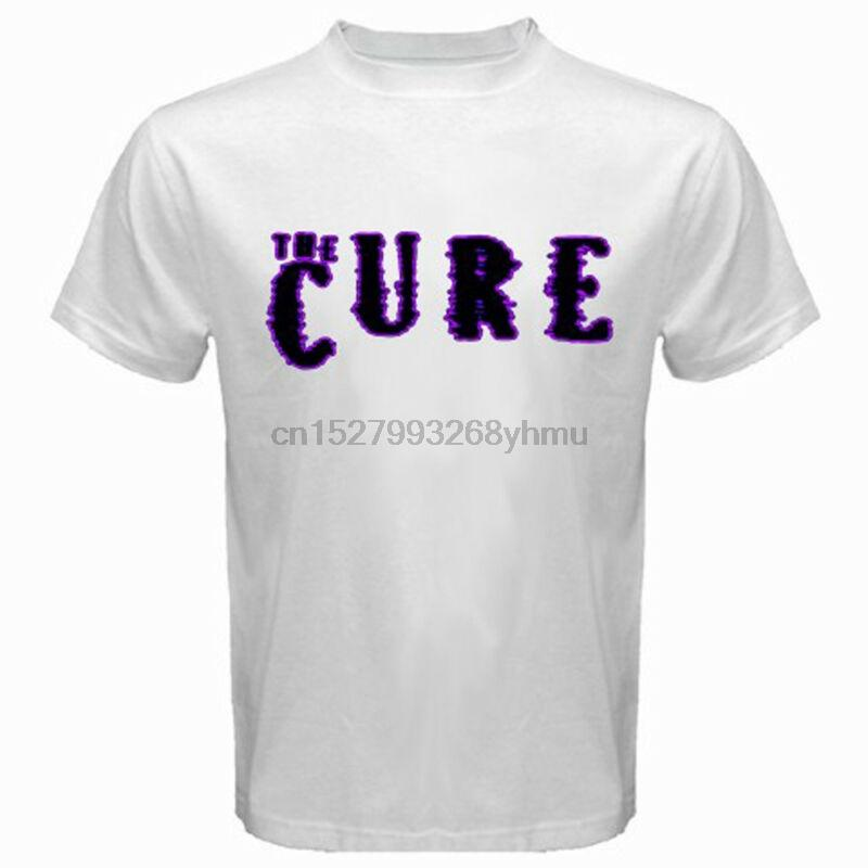 New The Cure Rock Band Legend Violet Logo T-shirt blanc Taille Homme S-3XL