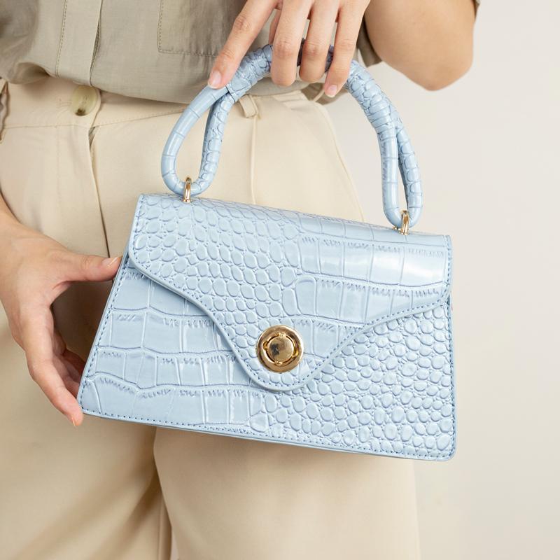 جديد تمساح فاخرة الجلد الطباعة حمل حقيبة حقيبة يد محفظة المرأة مصمم خمر CROSSBODY الصغيرة حقائب ماركة حقائب الكتف كيس