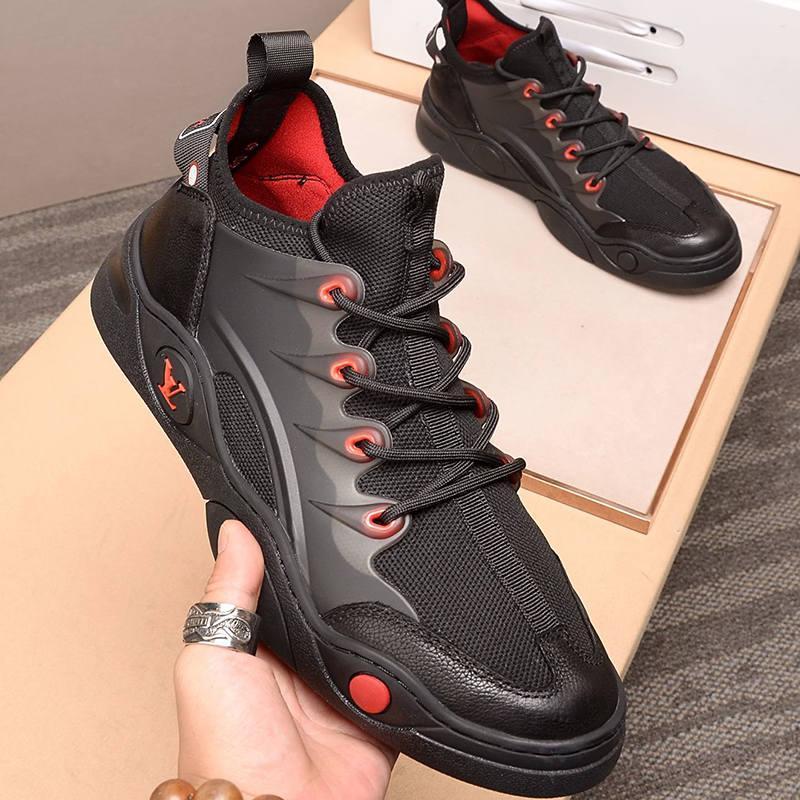 Diseño de alta calidad 2021-2020y nuevo lujo de cuero de goma inferior zapatillas de deporte de All -Match transpirable zapatos casuales para hombre para hombre de los zapatos de banquetes Tamaño: 38