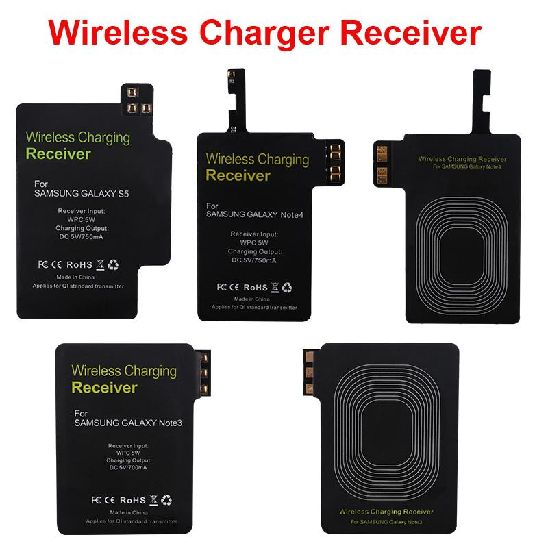 100pcs Qi Wireless Charger Receiver Charging Adapter Receptor Pad Coil For iphone S5 S4 S3 Note 2 3 4